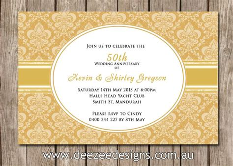 50th wedding anniversary card templates 50th wedding anniversary invitations wedding invitation