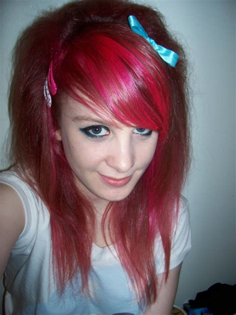 dyed hairstyles for brown hair latest ideas of cute colorful dye emo hairstyles for