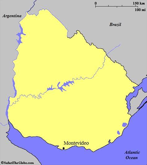 uruguay on the world map uruguay