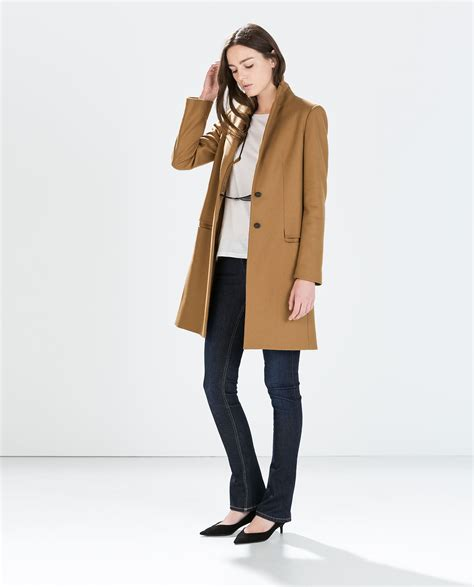 Jas Zara Image 1 Of Wool Camel Coat From Zara Closet
