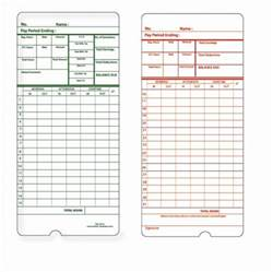 Printable Time Card Template Time Card Template Free Time Card Template