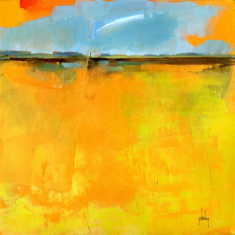 semi abstract landscape original painting cirrus by