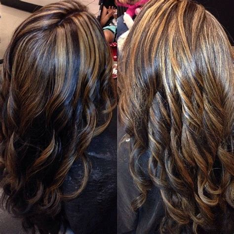 pics of partial highlights partial highlight with a red brown base highlights