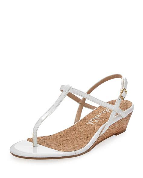 t wedge sandal splendid edgewood tstrap wedge sandal white in white wht