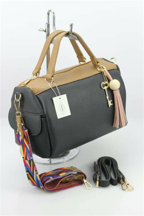 Tas Import Ic86593 Grey Leather Bag Fashion Korea Casual Handbag jual tas wanita import fsl 960 di lapak khayyirah hoki shop khayyirahhokishop
