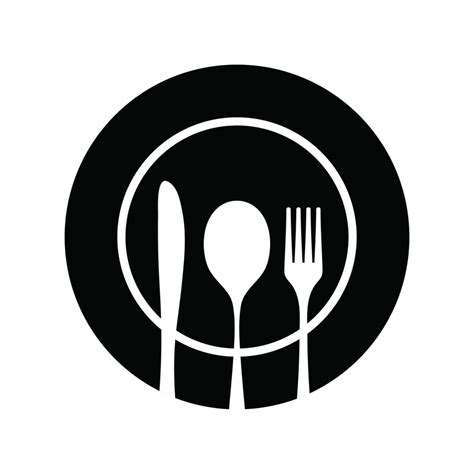 Dinner Plate And Silverware Silhouette Www Imgkid Com