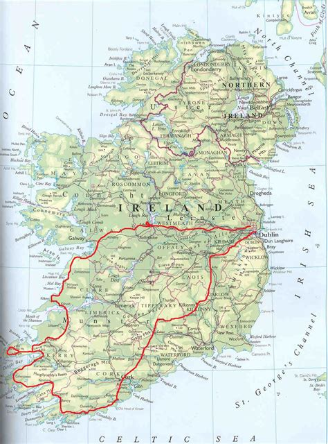 printable road maps ireland ireland road map download free