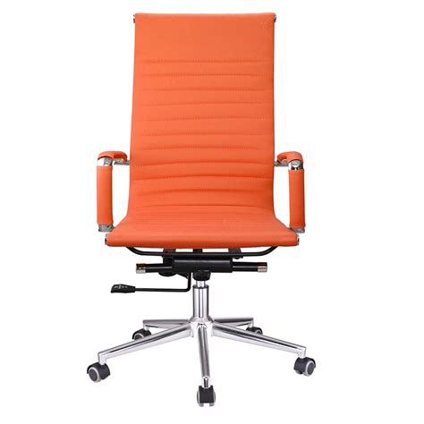 Leather Computer Desk Ergonomic High Back Pu Leather Office Chair Computer Desk