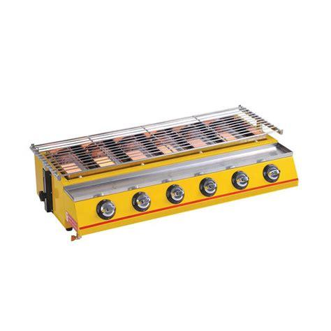 Crown Panggangan Gas Roaster 4 Burner Alat Pemanggang Daging Sate Gril jual gas burner cek harga di pricearea