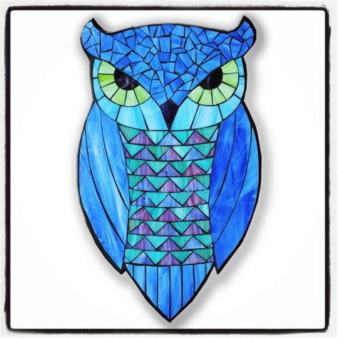 stained glass owl l kasia mosaics owls