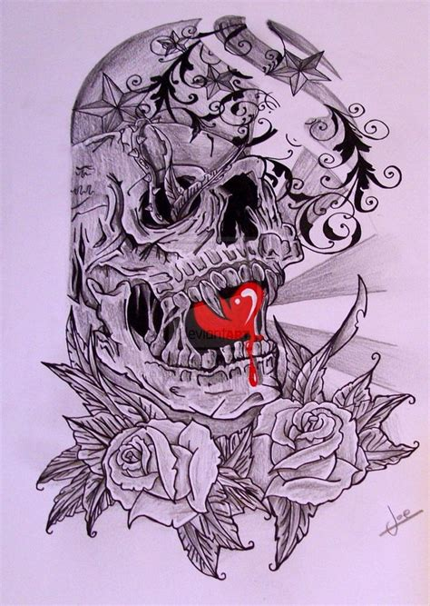 skull heart tattoo 31 best human and skull tattoos images on