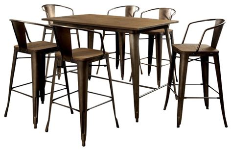 industrial dining table set furniture of america e commerce by enitial lab cooper