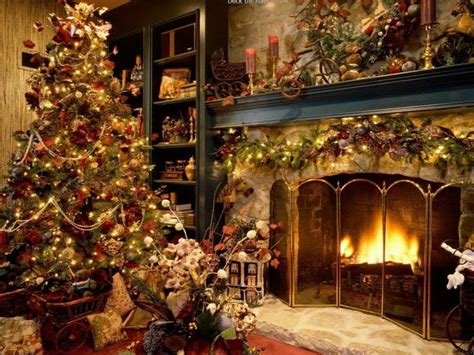 old fashioned home decor bloombety old fashioned christmas with fireplace