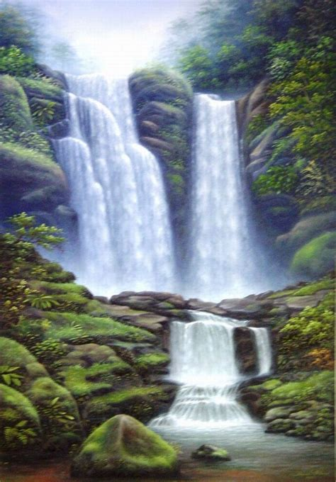 bob ross painting a waterfall most beautiful waterfalls painting in oils photography
