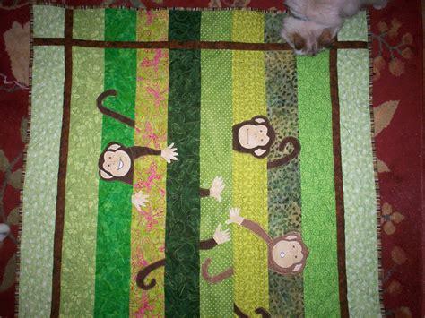 quilt pattern monkey tia rita tapestry peekaboo monkey quilt