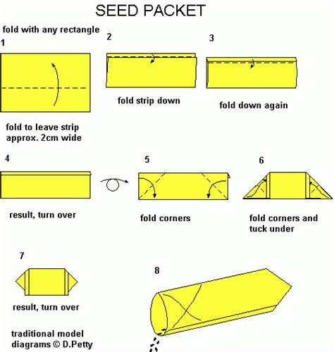 How To Make Paper Packets - 44 seed packet