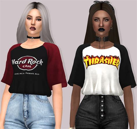 Crisp Feminine Top 4 by Aerys Top By Lumy Sims Sims 4 Clothes Females