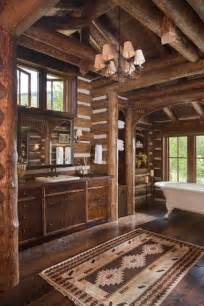 log cabin bathroom ideas 39 cool rustic bathroom designs digsdigs