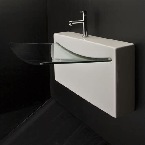 Lacava 4500G Block Wall Mount Porcelain Sink :: Bathroom