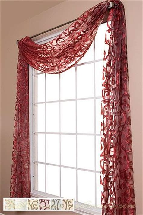 red sheer curtain scarf window toppers amalfi and window on pinterest