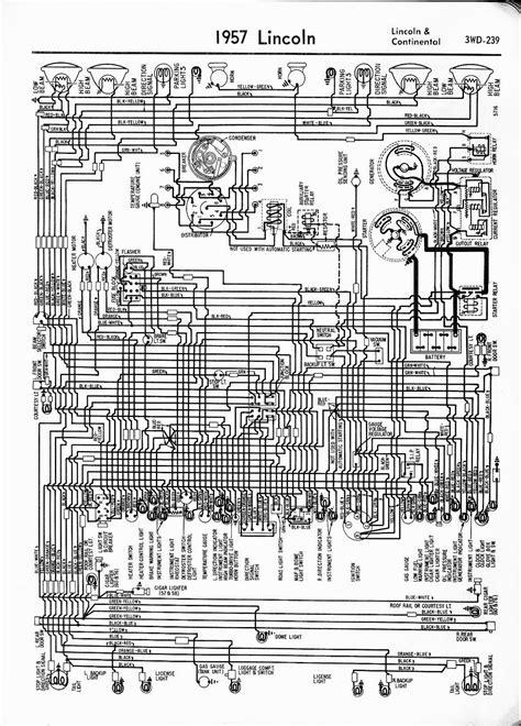 auto wiring diagram  lincoln continental diagram