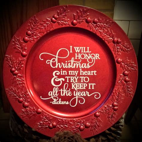 Decorative Plate 13 Quot Decorative Christmas Charger Plate Pizarrones