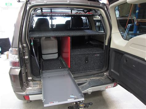 Kabel Out Unit Mitsubishi Pajero touring unit fourby fitouts cervan fit out 4wd drawer storage systems