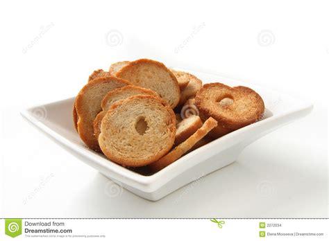 Tokyo1 Mini Bread Square mini bread chips stock photo image of macro bake