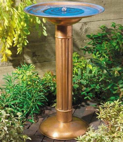 bird bath copper birdbath with solar fountain