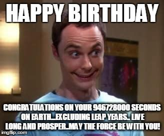 Big Bang Theory Birthday Meme - happy birthday from sheldon cooper pictures to pin on