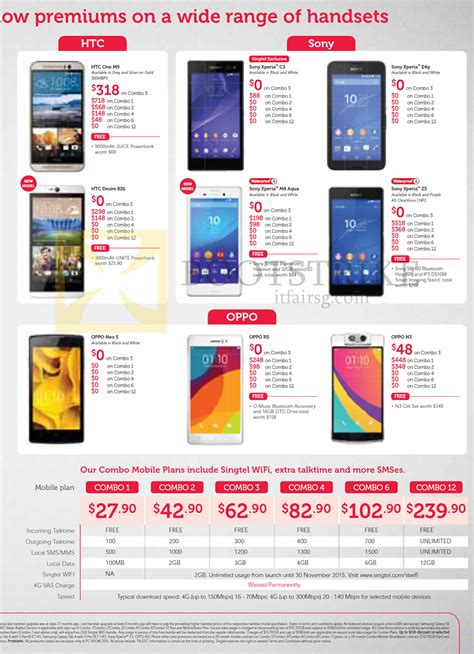 oppo mobile price list singtel htc one m9 desire 826 sony xperia c3 e4g m4