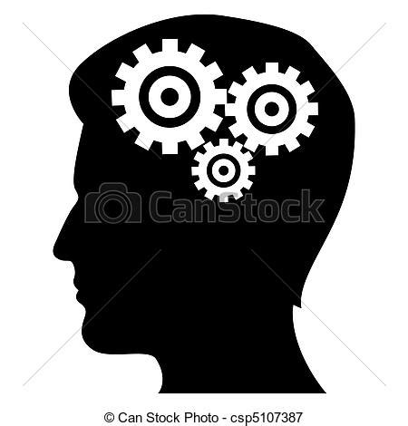 black white mind and ideas royaltyfree vector icon set stock vector 478271243 istock illustration of mechanics of human mind on isolated background