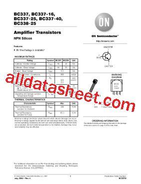 transistor equivalent bc337 bc337 datasheet pdf on semiconductor