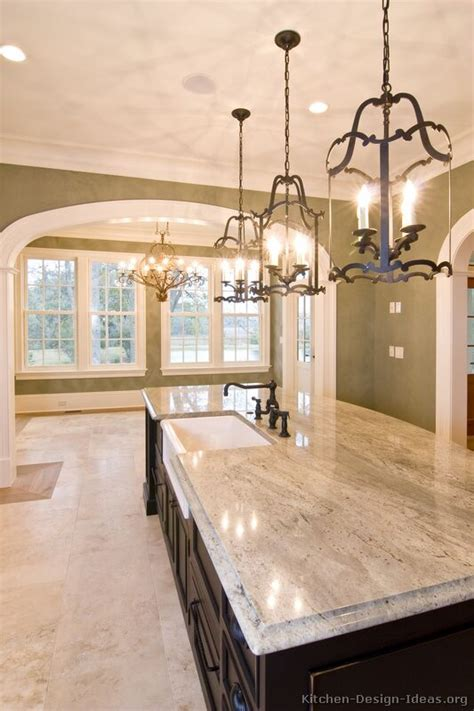 Pictures Of Kitchens Traditional Two Tone Kitchen Lantern Lights Kitchen Island