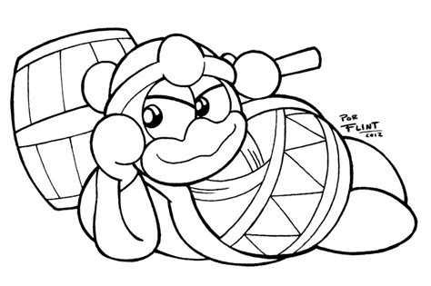 king dedede coloring page dedede by flintofmother3 on deviantart
