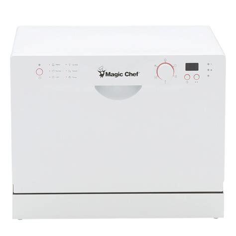 Magic Chef Countertop Dishwasher by Magic Chef Countertop Portable Dishwasher In White With 6