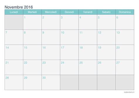 Calendario Novembre Calendario Novembre 2016 Da Stare Icalendario It