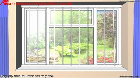Window Bars Interior by Removable Security Window Bars Window Grilles