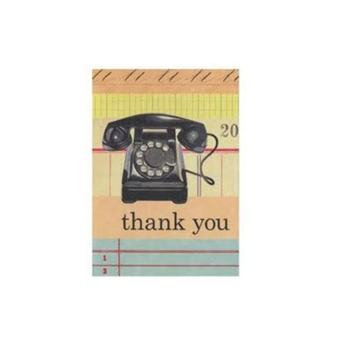 Thank You Note For Telephone Vintage Office Telephone Thank You Notes