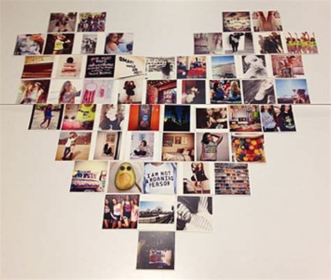 how to make a picture wall collage diy shaped instagram collage make a photo collage