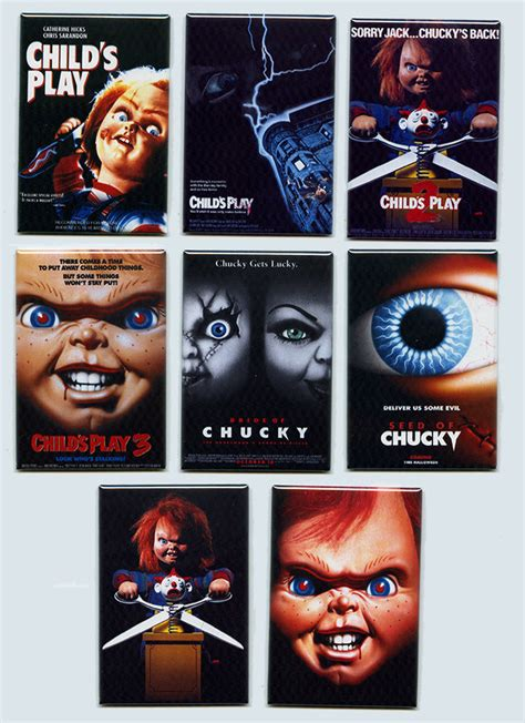 chucky film list childs play movie poster fridge magnets part 1 2 3