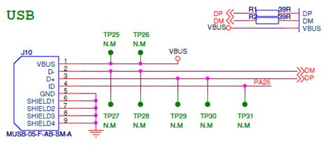 usb data line resistor how to connect the avr32 uc3b