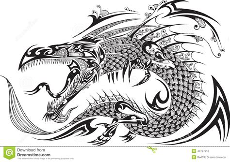 dragon tattoo vector stock vector illustration of fantasy