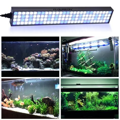 60w 25 Quot Led Aquarium Light Fish Tank Light Blue White Blue Led Lights Aquarium