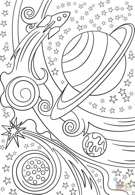 Marvelous Picture of Outer Space Coloring Pages | Star