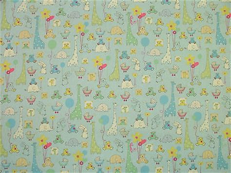 Babytime Blue Designer Cotton Nursery Curtain Soft Nursery Curtain Fabric