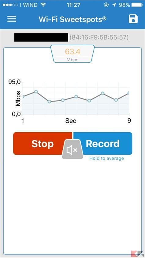 test segnale wifi verificare potenza segnale 4g e wifi iphone chimerarevo