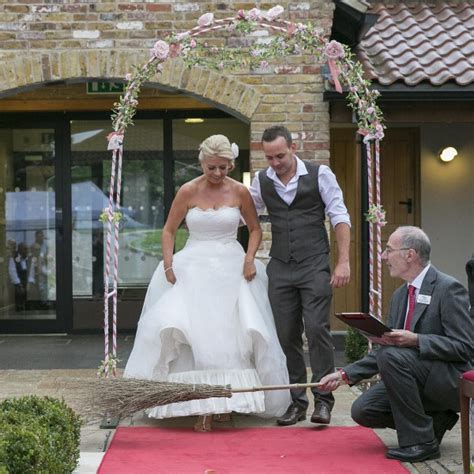 Wedding Ceremony Jumping The Broom by A Ghoulish Wedding Vows That Wow