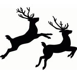 animal silhouette stencil reindeer silhouette stencil 17 best images about black white graphics printables