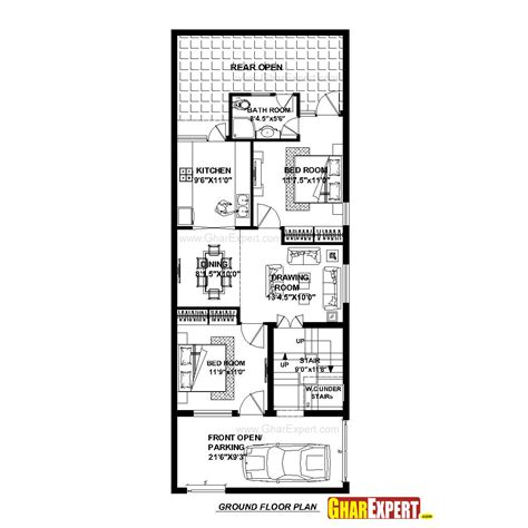 gharexpert home design house plan for 23 feet by 60 feet plot plot size 153